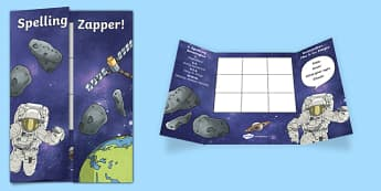 Space Themed Blank Spelling Zapper - spelling zapper, spell, spelling, zapper, dyslexic, dyslexia, learn, tricky words, personalise, words, blank, space