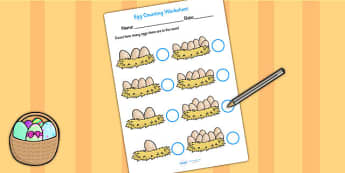 Eggs in Nests Counting Sheet - eggs counting worksheet, eggs counting, egg counting, eggs counting sheet, eggs counting activitiy, count the eggs, eggs