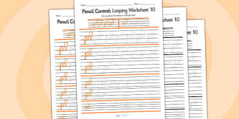 Pencil Control Looping Worksheet 10 - pencil control, looping