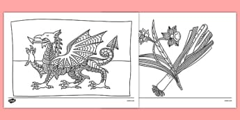 Wales Mindfulness Colouring Sheets - wales, mindfulness, colouring, colour, activity