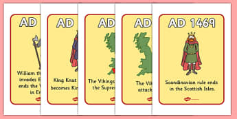 Vikings Timeline Display Posters - Vikings, England, display, poster, timeline, history, longboat, Scandinavian, banner, sign, explorers, Viking Age, longship, Norse, Norway, Wessex, Danelaw, York, thatched house, shield