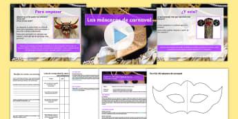 Pack de planificación: Las máscaras de Carnaval (3er ciclo de EP) - carnaval, máscaras, mascara, plantilla, ideas de enseñanza, plan de enseñanza, Venecia, veneciano