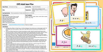 Frogs Funny Rhymes EYFS Adult Input Plan and Resource Pack - pack