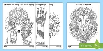 Inspirational Mindfulness Colouring Pages-Irish - ROI Back to School Resources, inspirational, inspirational, motivate,motivational, back to school, c