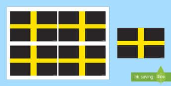 Saint David's Handheld Flag Activity - Dewi Sant (St David's Day 1.3.17),Welsh, Wales, St David, Flag, colouring, craft