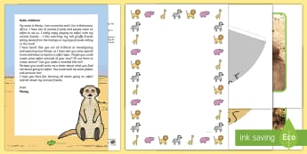 Editable Meerkat Message and Resource Pack  - EYFS, Early Years, Early Years planning, Key Stage 1, KS1, topic starter, topic introduction, Wow ac