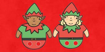 Christmas Elf Finger Puppets - activity, activities, festivities