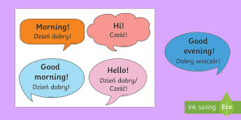 Social Greetings Prompt Cards English/Polish - social greeting, prompt, cards,EAL,Polish-translation