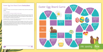Probability Easter Egg Hunt Board Game - Secondary Easter Resources, game, probability, fractions, negative numbers, quantities, quantity, eg