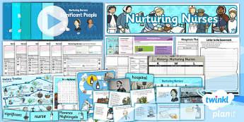 PlanIt - History KS1 - Nurturing Nurses Unit Pack Notebook