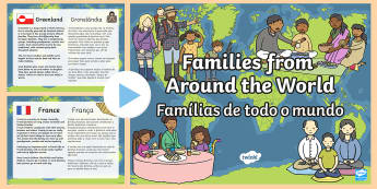 Families Around the World PowerPoint English/Portuguese - My Family KS1 Families Around The World PowerPoint Presentation, Family's, pp, ppt, eal