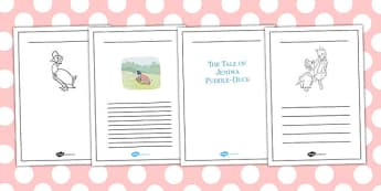 The Tale of Jemima Puddle-Duck Writing Frames - jemima puddle-duck