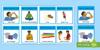 Feeling Anxious Choice Cards - anxiety, angry, mad, frustrated, strategies, calming, self regulation