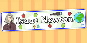 Isaac Newton Display Banner - isaac newton, display banner, banner for display, banner, display, display header, header, header for display, class display