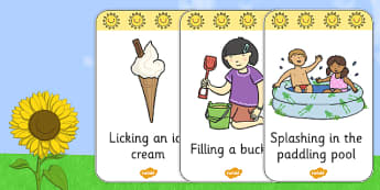 Look and Act Summer Flashcards - Look, Act, Summer, Flashcards