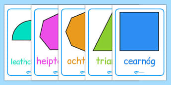 2D Shape Posters Gaeilge - roi, irish, republic of ireland, 2d shape, posters, display, shape, 2d