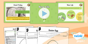PlanIt - RE Year 3 - Good Friday Lesson 6: New Life Lesson Pack - cross, resurrection, forgiveness, Jesus, crucifixion