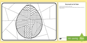 Ou pentru decorat cu întreaga clasă - ouă de paște, paștele, activități, primvara, primăvară, română, materiale, activitate,Roman