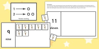 Workstation Pack 1-20 Ice Cream Counting Activity - teacch