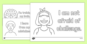 Growth Mindset Colouring Pages-Australia