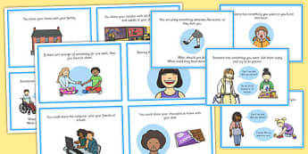 Sharing Cards - sharing, cards, words share, play, objects, toys