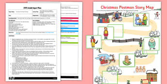 Story Map Activity EYFS Adult Input Plan And Resource Pack to Support Teaching on The Jolly Christmas Postman - EYFS, Early Years, planning, Christmas, L, Literacy, storytelling, Janet and Allan Ahlberg, The Jolly Christmas Postman