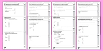 Year 2 Grammar and Punctuation Test Pack - year 2, grammar, punctuation, test