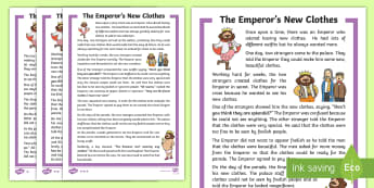 KS1 The Emperor's New Clothes Story - Key Stage One, KS1, Year 1, Year One, Year 2, Year Two, Traditional Tale, Traditional Story, Folk Ta