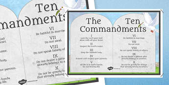 The 10 Commandments - RE, Jesus, Bible, Moses