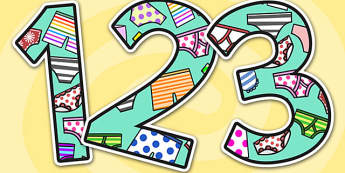 Themed Display Numbers to Support Teaching on Aliens Love Underpants - aliens love underpants, display numbers, themed numbers, numbers for display, classroom display