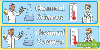 Chemical Sciences Display Banner - Australian Curriculum, Chemical sciences, science display, ACSSU003, ACSSU018, ACSSU031, ACSSU046, A