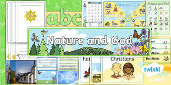 PlanIt - RE Year 2 - Nature and God Additional Resources - planit, re, religious education, year 2, nature and god,
