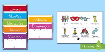 Calendario: La semana de Carnaval Calendario de exposición - Carnaval España, disfraz, disfrazar, pascua, cuaresma, calendario,Spanish