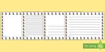 Volcano Landscape Page Borders- Landscape Page Borders - Page border, border, writing template, writing aid, writing frame, a4 border, template, templates, landscape