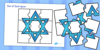 Star of David Jigsaw - star of david, jigsaw, star, judaism, game