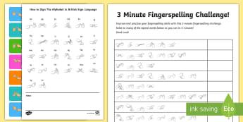 The Fingerspelling Challenge Activity - Deaf Awareness Week  UK (2.5.17)