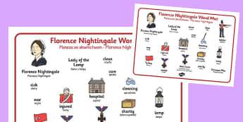 Florence Nightingale Word Mat Polish Translation - polish, florence nightingale, word mat