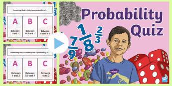 Probability PowerPoint Quiz - probablility, powerpoint, quiz