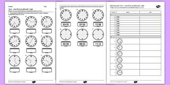 Unități de măsură pentru timp - Teste pentru exersare