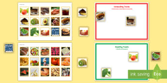 Workstation Pack: Healthy Eating Activity - TEACCH, autism, healthy eating, ASD, ASDAN