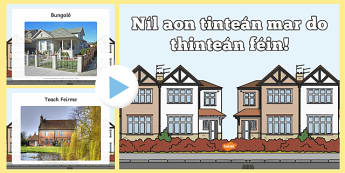 Types of Home Photo Display PowerPoint - Irish
