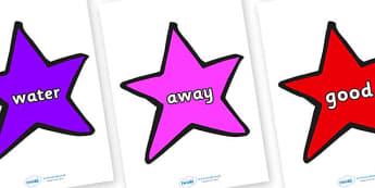Next 200 Common Words on Stars (Multicolour) - Next 200 Common Words on  - DfES Letters and Sounds, Letters and Sounds, Letters and sounds words, Common words, 200 common words