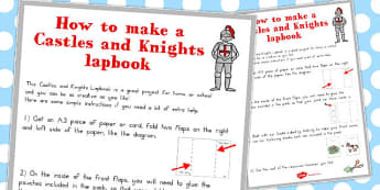 Castles and Knights Lapbook Instruction Sheet - australia, castle