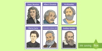 Famous Scientist Group Cards - science, teams, groups, group names, group cards, famous scientists, inventors, investigations, expe