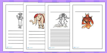 The Firework Makers Daughter Writing Frames - writing templates