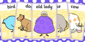 There Was an Old Lady Who Swallowed a Fly Display Posters - fly