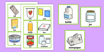 Recycling Sorting Cards - recycle, sort, game, games, activity