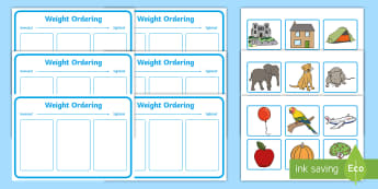 Workstation Pack: Weight Ordering Activity Pack - Workstation, TEACCH, weight, maths, shape space and measure,