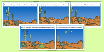 Australian Desert Habitat Playdough Mats - Science, Year 1, Habitats, Australian Curriculum, Desert, Outback, Living, Living Adventure, Environment, Living Things, Animals, Plants, Paydough Mats
