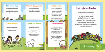 Easter Card Inserts - Easter, time, season, Spring, new life, new beginnings, egg, eggs, chick, chicken, Jesus, cross, Las